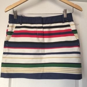 J. Crew Women's Multistripe Mini Skirt Size 0